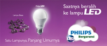 Bóng đèn led Philips-Led EcoBright 6-60W E27 3000/6500K